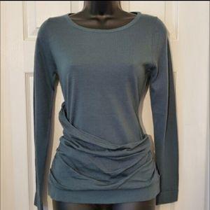 NWT! Ann Taylor Dark Green Merino Wool Sweater